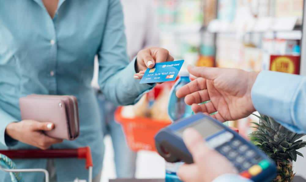 Credit Card Being Used