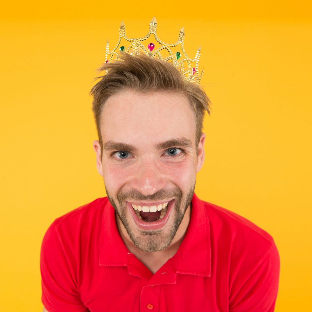 Man Wearing Crown