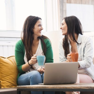 Female Friends Drinking Coffee